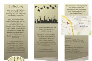 Einladung Alumni-Feier Projournal